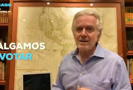 Tras hackeo, Santiago Creel pide votar por 'el reequilibrio del poder'