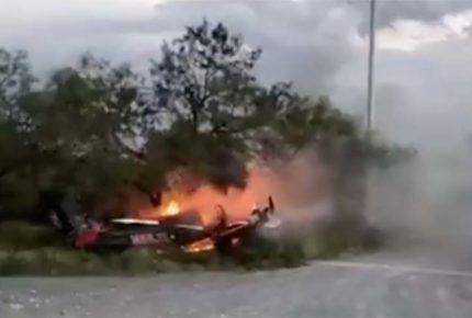 Se registra caída de avioneta en Vallecillo, Nuevo León