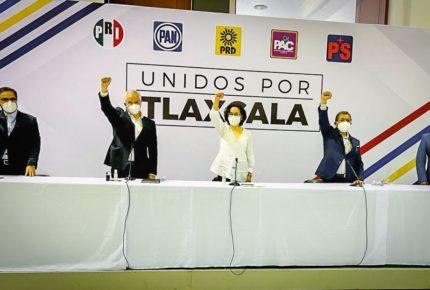 Anabell Ávalos, abanderada de la coalición Unidos por Tlaxcala