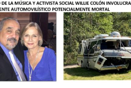 Willie Colón sufre accidente automovilístico