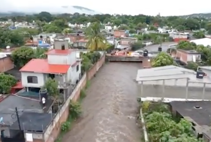 Yautepec amaneció bajo el agua; Sedena activa Plan DN-III-E