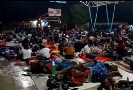 INM y GN disuelven caravana migrante en Huixtla