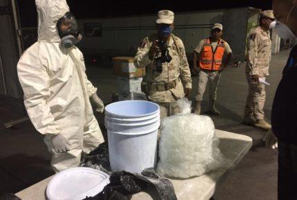 Autoridades decomisan metanfetaminas con destino a China