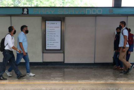 Mujer se arroja a vías del metro Fray Servando