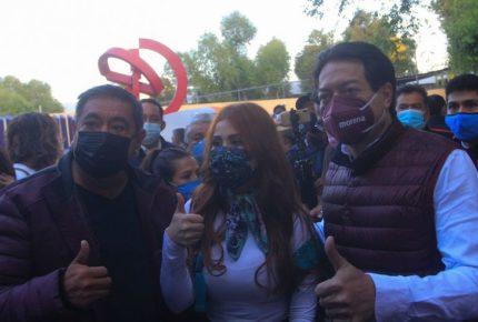 Protesta Félix Salgado ahora frente al Tribunal Electoral