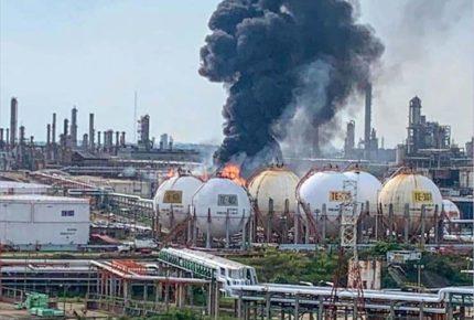 Incendio en Refinería de Minatitlán dejó siete personas lesionadas
