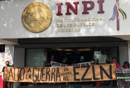 Indígenas otomíes toman las instalaciones del INPI