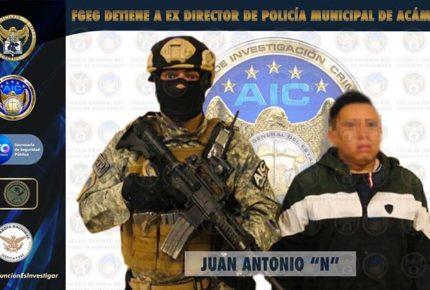 Cae exdirector de Seguridad Pública de Acámbaro, Guanajuato