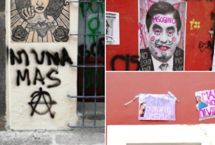 Feministas 'toman' instalaciones de CNDH en Tabasco y Puebla