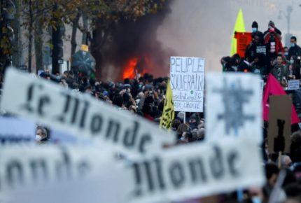 Se desatan protestas en Francia contra Ley de Seguridad Global