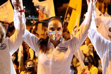Lupita Jones arranca campaña electoral en Baja California