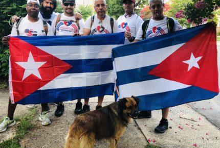Cubanos marchan a Washington para pedir fin del bloqueo