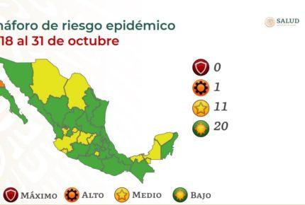 Con más de 5 mil nuevos casos de Covid-19, México se pinta de verde